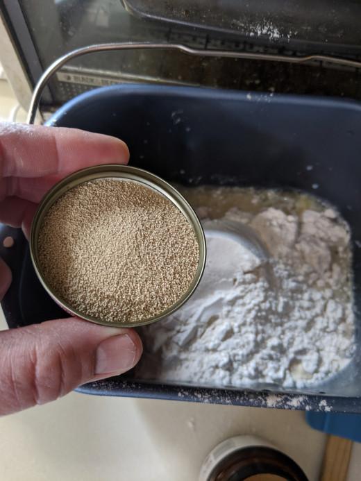 measure yeast, I used capful
