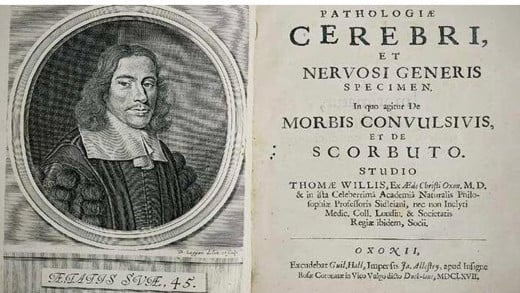 Cover of book by Thomas Willis' ''Pathologiae cerebri et nervosi generis specimen'' (1667) It is an important work on the pathology and neurophysiology of the brain. Willis contributed to the development of psychiatry.