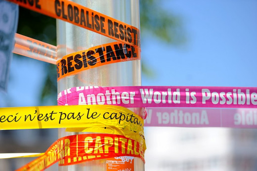 The publicity from this anti-G8 demo in France raised awareness of the cause, and so attracted more volunteers.