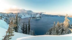 Crater Lake-Deepest Lake in United States