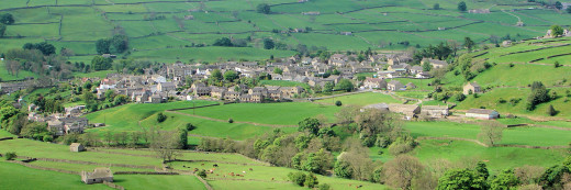 The view north-west over Reeth