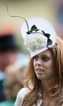 HRH Princess Beatrice walks around the parade ring on the first day of Royal Ascot 2009 at Ascot Racecourse on June 16, 2009 in Ascot, England.  (June 16, 20092009-06-16 00:00:00 - Photo by Chris Jackson/Getty Images Europe)