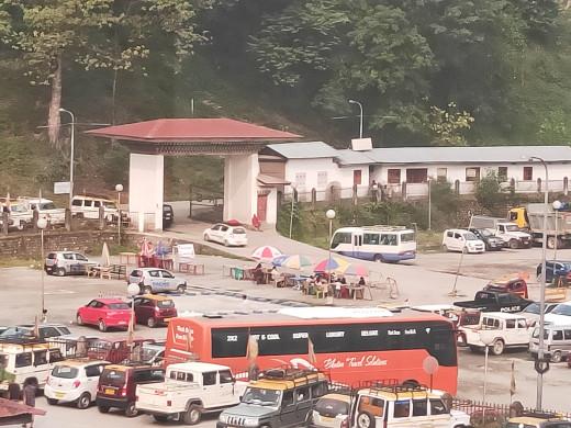 Bus terminus in Phuentsholing