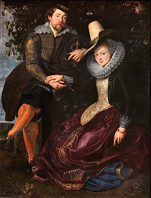 Self Portrait of Rubens with his wife