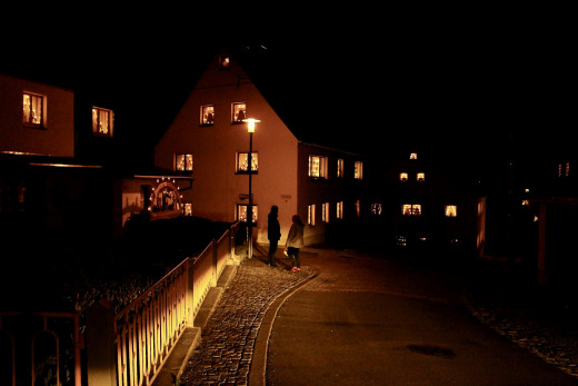 It is so magical to see the lights in all the windows in every village
