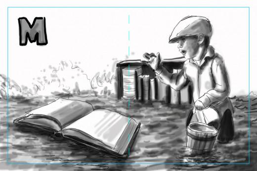 Value Sketch for the illustration