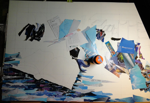 Progress Photo 1 of the collage process