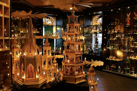Intricately carved candle carousel