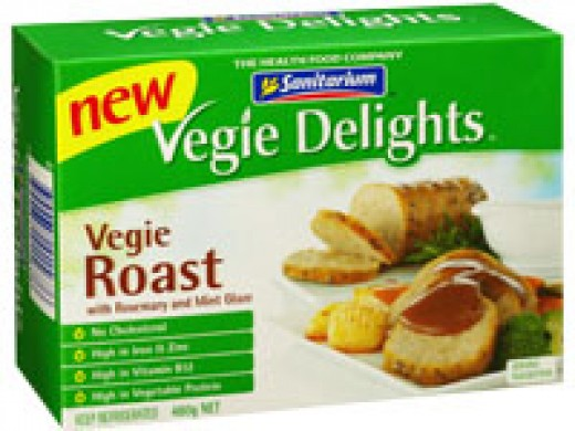Sanitarium Vegie Delights -- possibly the best vegetable-based meat replacement range ever.