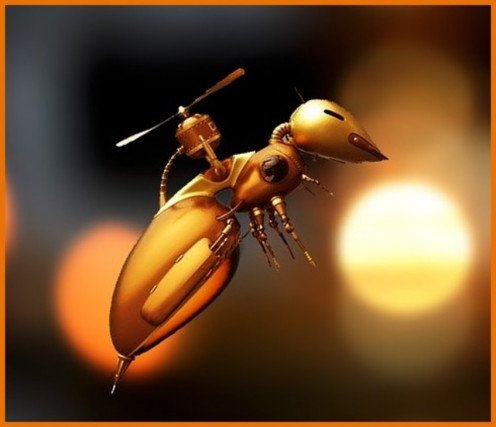 In our experience drone insects and other mechanical creatures are not nearly as easily identified as this.