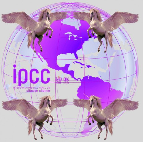 Figure 1. IPCC logo non-reality satire photo by RG Kernodle