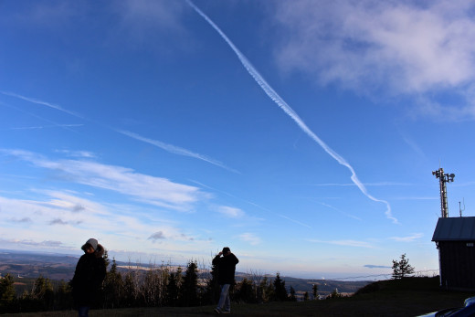 The amount of contrails in the sky always amazed me, this was a quiet day