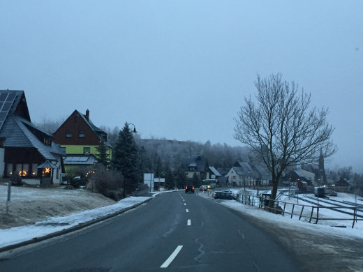 Driving back to Annaberg from Oberweisenthal in the New Year