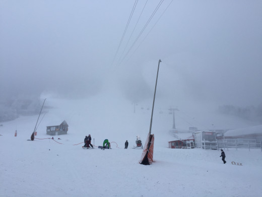 The ski slopes of Oberweisenthal in the New Year