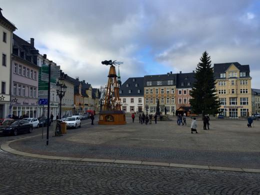 Annaberg after the Weihnachtsmarkt finished