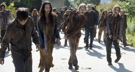 Zombies from the Walking Dead