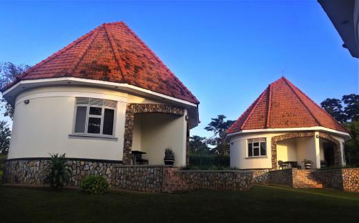 The cottages at Kolping Hotel Masindi
