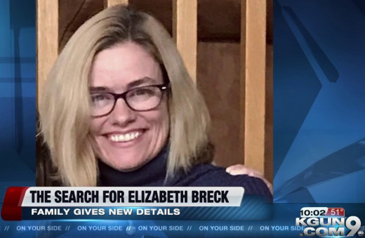 Elizabeth Breck has been missing since January 13, 2019, from Sierra Tucson treatment facility in Tucson, Arizona.