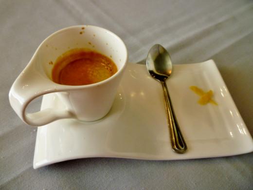 Serving of espresso