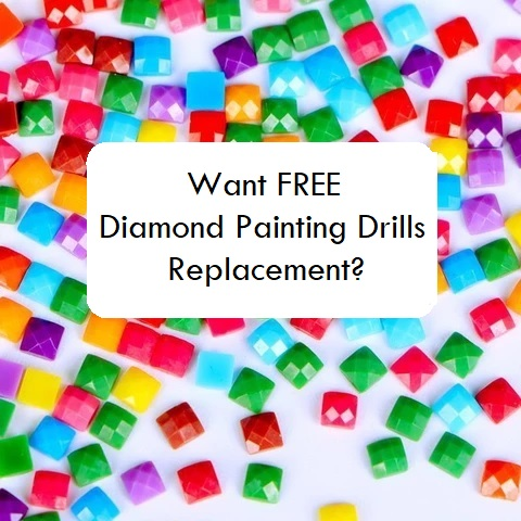 FREE diamond painting drill replacements