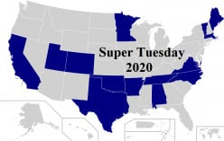 Sanders Poised to Sweep in High-Delegate States CA, TX, CO, VA, and in Warren's Home State Massachusetts