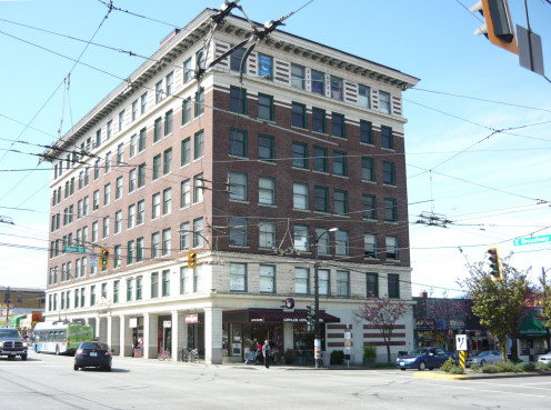 Lee Building, 175 East Broadway Street at Main Street, Vancouver, British Columbia, Canada.