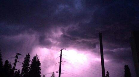 Lightening storm, Leavenworth, Washington.