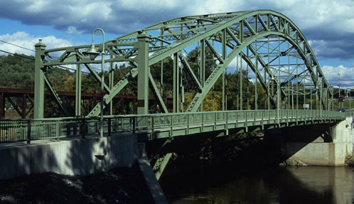 Ranger Bridge (Veterans Memorial Bridge) between Wells River, VT and Woodsville, NH, is a steel arch truss bridge over the Connecticut River, built in 1923 to replace a 1917 bridge undermined by a flood in 1922.