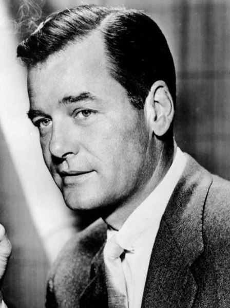 Gig Young posing for publicity shot during the Hollywood Palace.