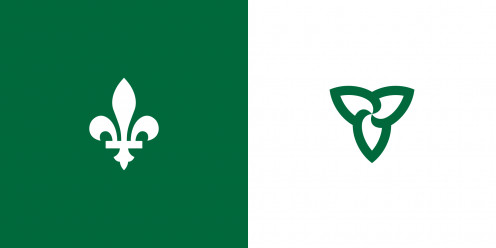 Franco-Ontarian Flag ; Government of Ontario, Office of Francophone Affairs