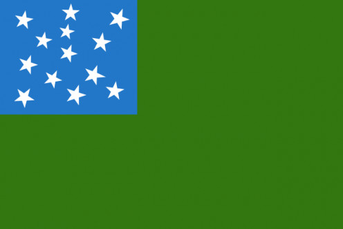 The Stark flag, commonly attributed to the Green Mountain Boys, also used by the Vermont National Guard.