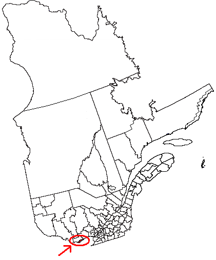 Map location of Gatineau, in Quebec