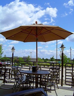 Photo of this patio umbrella by http://www.flickr.com/photos/missbeckles/16100436/