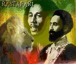 The showmen both in their unique and inimitable ways. Bob Marley and his Jah- Rasta Haile Selassie.