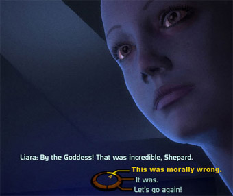 Screenshot from Mass Effect, courtesy Gawker.