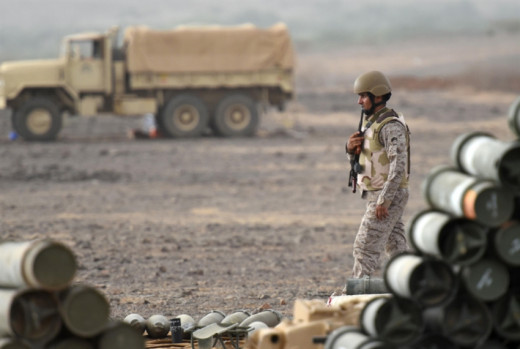 Field sources in Al-Jouf Governorate confirmed that violent confrontations in which various types of weapons are used are still ongoing (AFP)