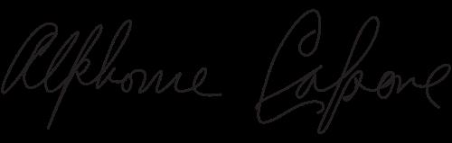 Signature of Al Capone.