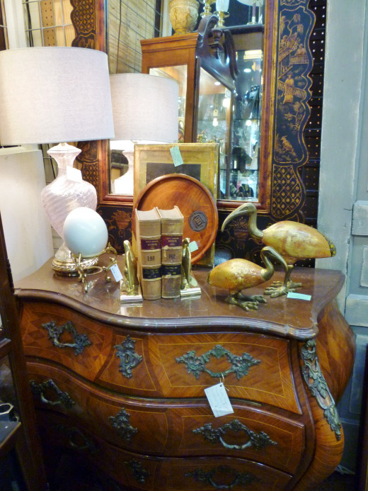 Pretty items for sale at AG Antiques in the Houston Heights