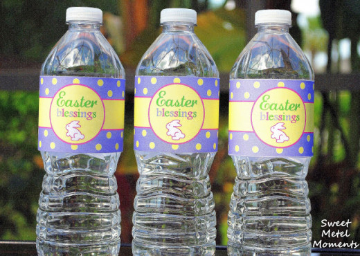 Add some extra fun to your Easter celebration with these water bottle labels