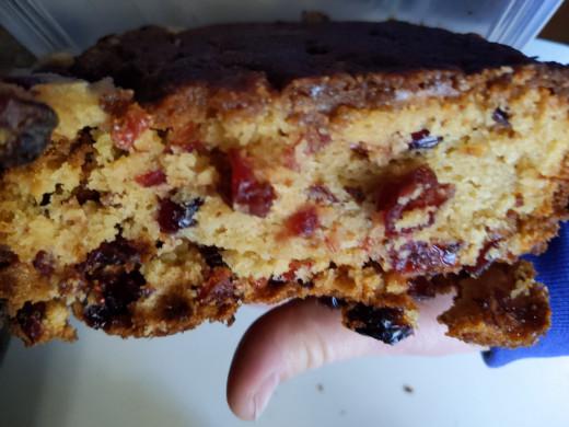 Cranberry/applesauce bread.