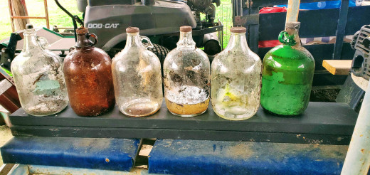 My junk pile vinegar jug collection