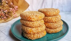 How to Make Sweet Potato Rice Cake With Sesame From Home