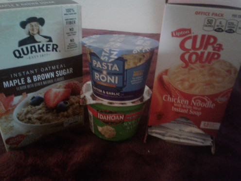 Rices, Pasta, soups and oatmeal