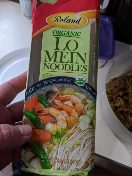 Noodles. Warning: noodles aren't loose.