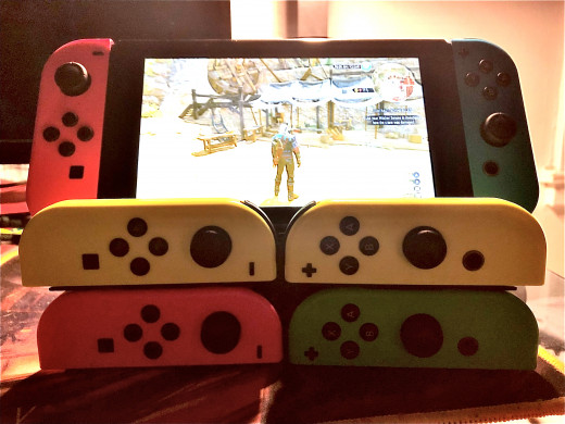 My Switch, and a small collection of Joy-cons.