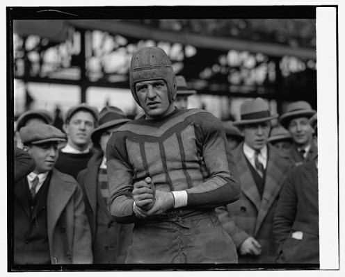 Red Grange was one of the first college stars to play pro football.