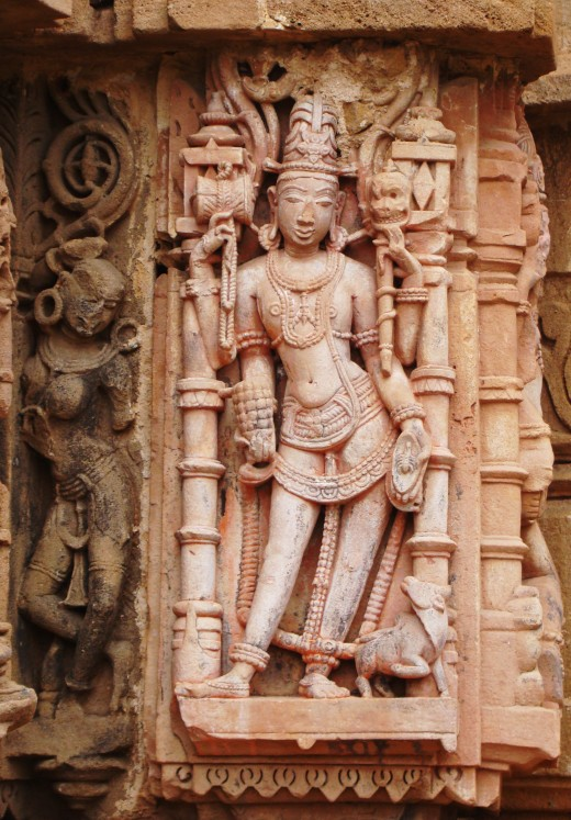 From Gauri-Somnath temple, Omkareswar, Madhya Pradesh, India.