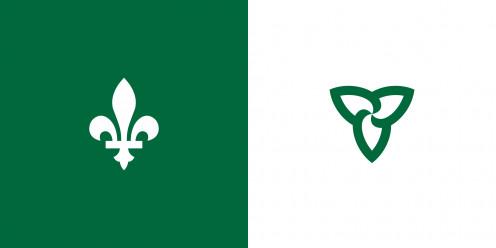 Franco-Ontarian Flag ;