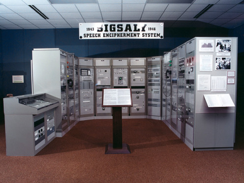 NSA picture of the en:SIGSALY exhibit at the National Cryptologic Museum.
