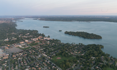 Aerial view of Dorval and L'Île-Dorval